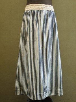 late 19th - early 20th c. indigo striped cotton skirt