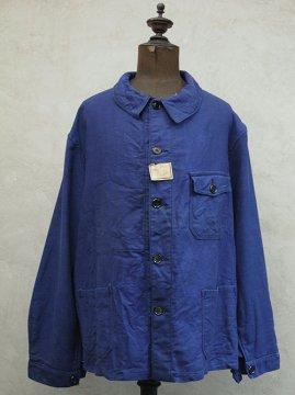 cir. 1940's linen cotton twill work jacket dead stock