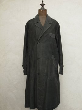 1930-1940's black cotton work coat