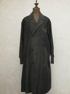 1930-1940's black cotton work coat