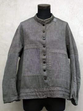 late 19th c. salt&pepper patched blouse / jacket