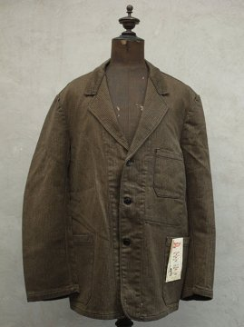 1940-1950's brown pique work jacket dead stock
