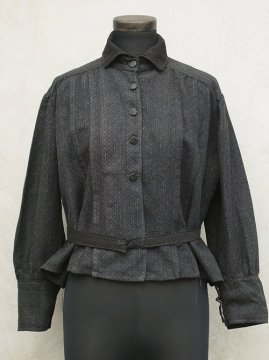 ~early 20th c. black striped blouse