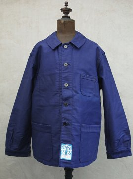 mid 20th c. blue moleskin jacket dead stock
