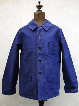 1940-1950's blue moleskin work jacket