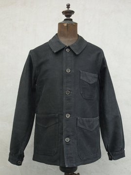 1930-1940's black moleskin jacket