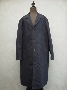 mid 20th c. black linen × cotton maquignon coat