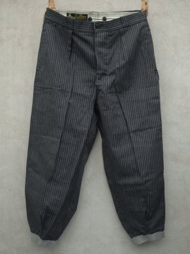 mid 20th c. striped cotton trousers dead stock
