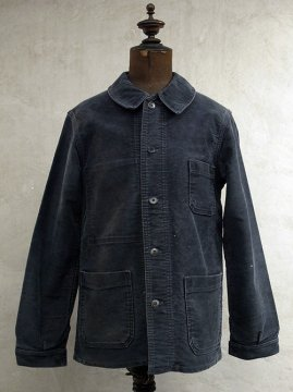 mid 20th c. black moleskin work jacket