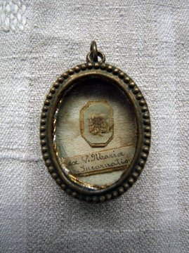 19th c. medaille reliquaire I