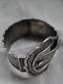 silver buckle bracelet