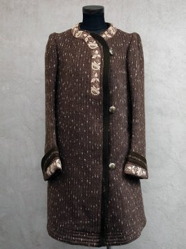 early-mid 20th c. brown wool coat