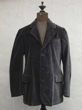 1930's black cord jacket dead stock