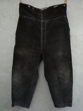 1930's heavy cord work trousers