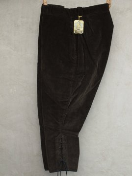1940's dark brown cord jodhpurs dead stock