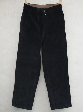 1940-1950's black corduroy trousers dead stock