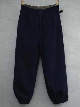 1930-1940's navy wool ski trousers