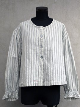 ~early 20th c. striped cotton blouse