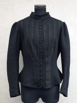 1900's black jersey bodice