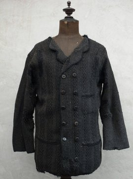 ~early 20th c. double breasted knit jacket