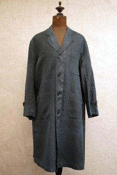 cir.1930's indigo linen maquignon coat