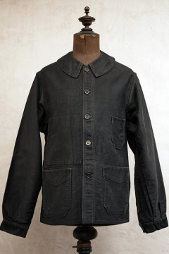 1930-1940's black moleskin work jacket