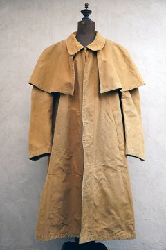 mid 20th c. Dickson canvas hunting cape coat