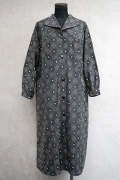 cir.1930's printed black work coat