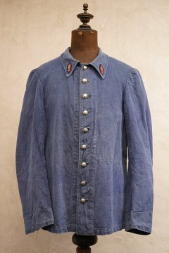 early 20th c. linen fire fighter jacket