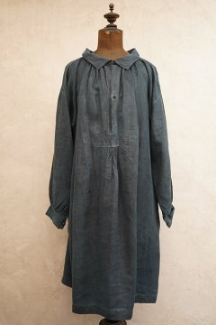 early 20th c. indigo linen smock