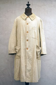 1930-1940's beige cotton work coat