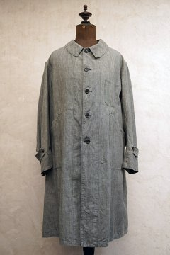 ~1930's linen × cotton chambray atelier coat