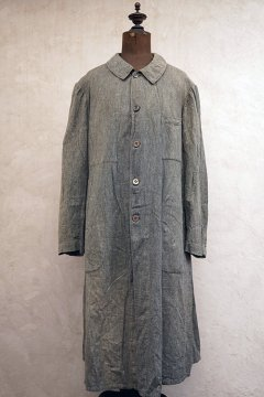 ~1940's salt&pepper cotton atelier coat