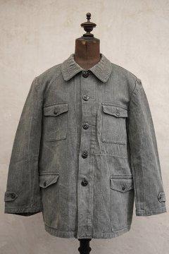cir.1940's salt&pepper cotton hunting jacket
