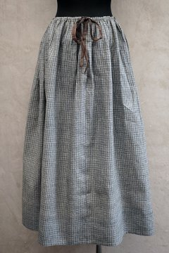 ~1900's checked cotton skirt