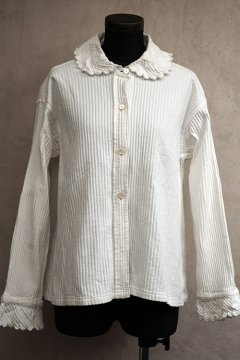 early 20th c. striped white cotton blouse