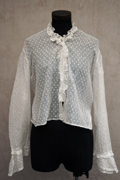 late 19th c. white dots blouse
