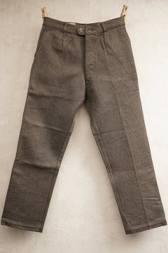 mid 20th c. brown pique work trousers dead stock