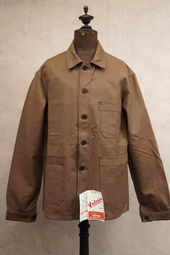 cir.1950's brown cotton twill work jacket