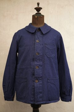 1930-1940's blue cotton twill work jacket dead stock