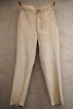 ~early 20th c. beige silk trousers