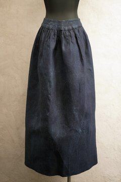 ~early 20th c. indigo linen apron