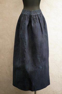 ~early 20th c. indigo linen apron