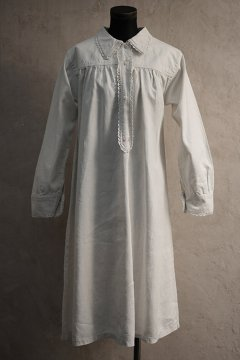 early 20th c. linen L/SL dress