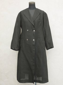 cir.1930's black linen coat