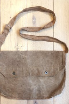 1930's brown linen musette