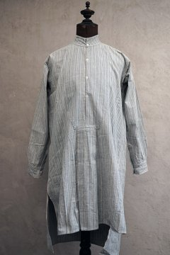 1910's-1930's gray striped cotton shirt