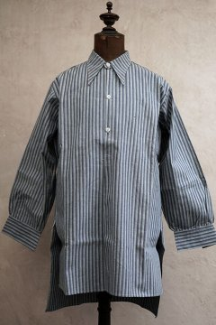 1930's blue striped cotton shirt