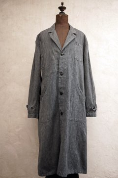 mid 20th c. salt & pepper atelier coat