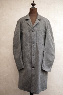 mid 20th c. salt & pepper atelier coat dead stock